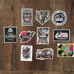 Vans Original Unique Sticker Lot Bundle Of 10 NEW